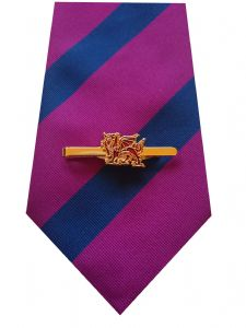 Royal Welch Fusiliers Tie & Tie Clip Set e099 v2